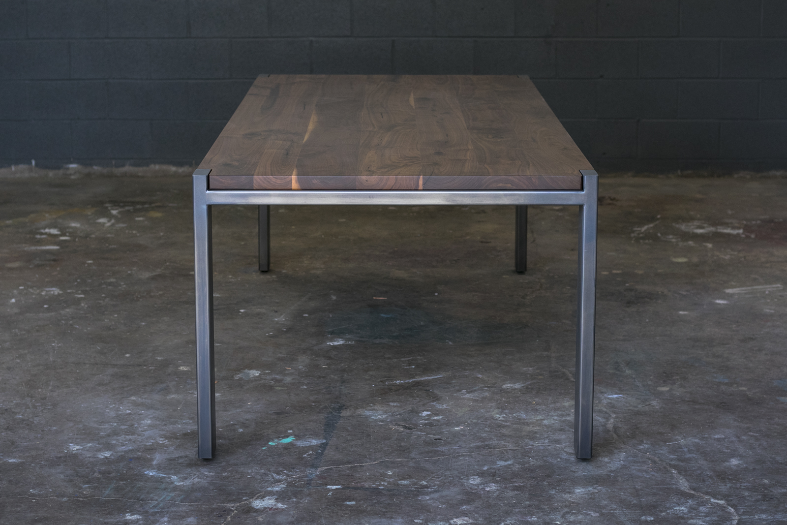 BLACK WALNUT WITH PATINA BRUSHED POWDER-COATED STEEL & HARDWAX OIL FINISH