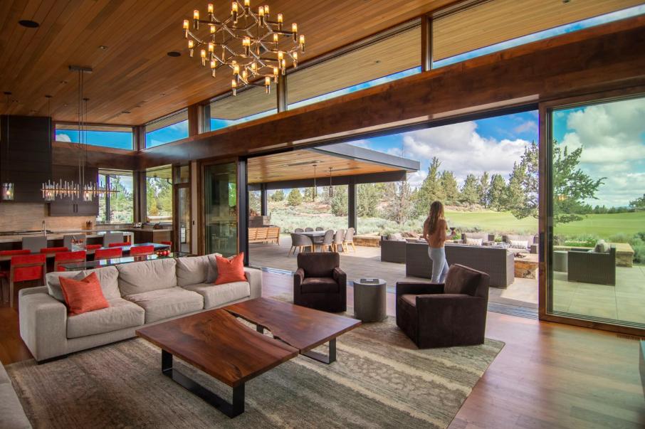 Mez Works Furniture | Lake Tahoe and SF Bay Area - Walnut Slab Square  Coffee Table // Inward-Facing Live Edges // Flat Stock Steel Base