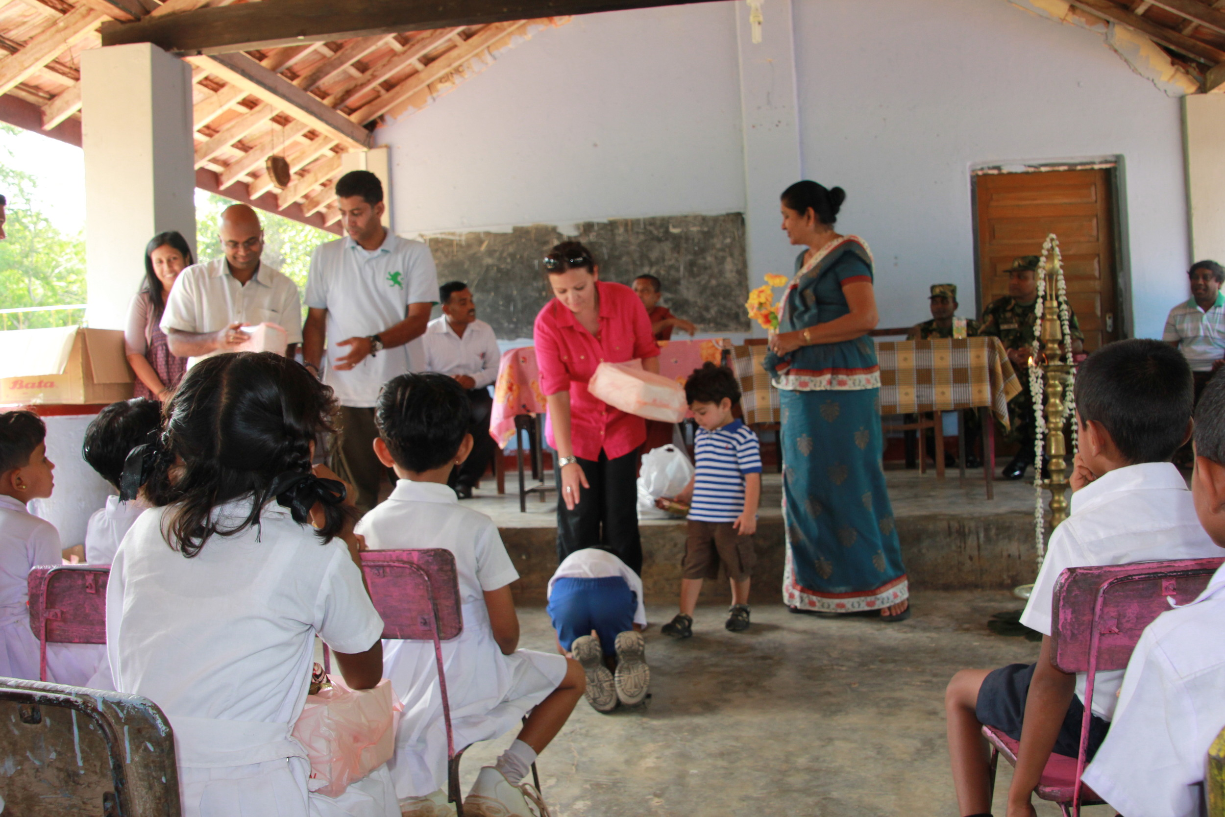 Donation event in Kabethigollawa 2012