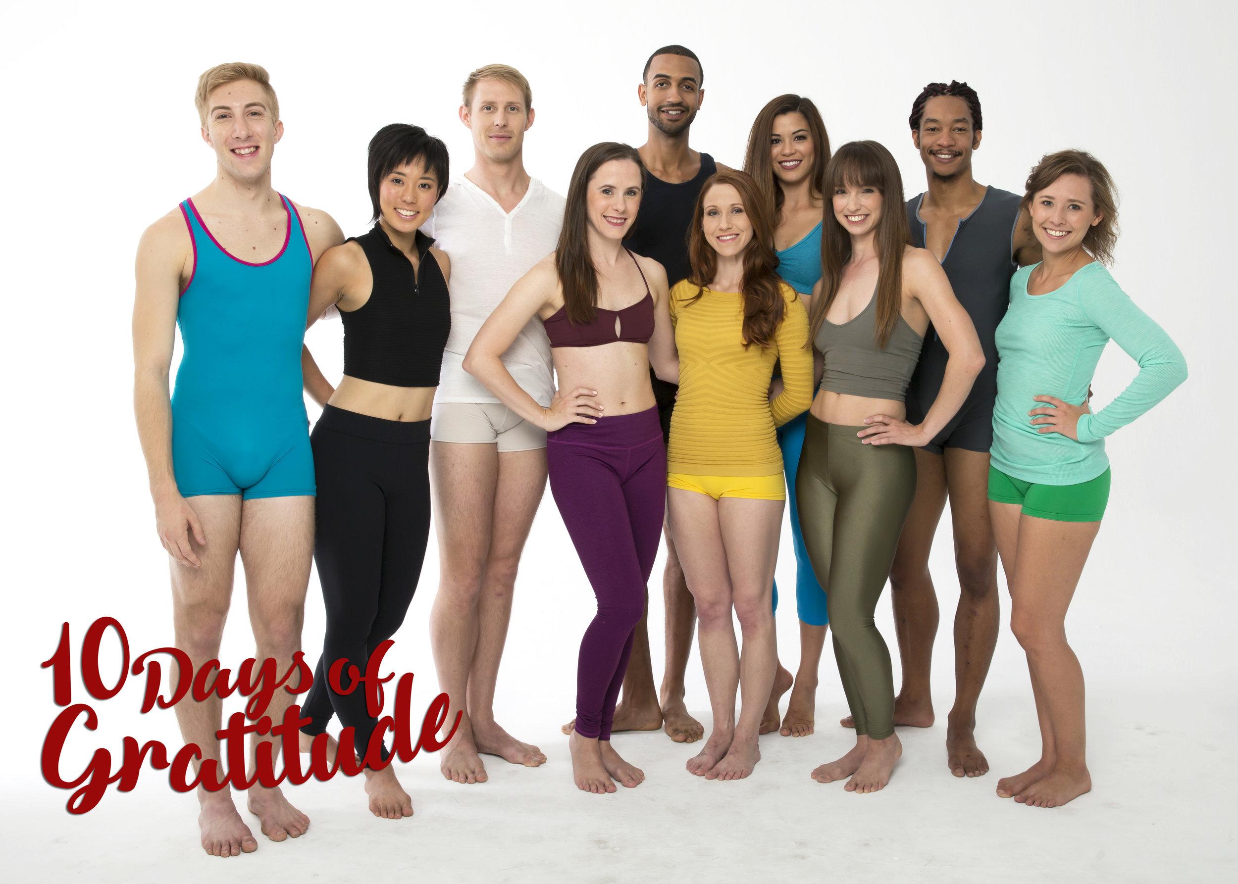 #BDSeason14 Dancers (L to R): Sammy DeAngelo (apprentice), Chihiro Sano, Evan Swenson, Amanda Kay White, Joshua King, Kaitlin Regan, Amie Lee Kilgore, Toshiro Abbley & Katie Natwick (apprentice).