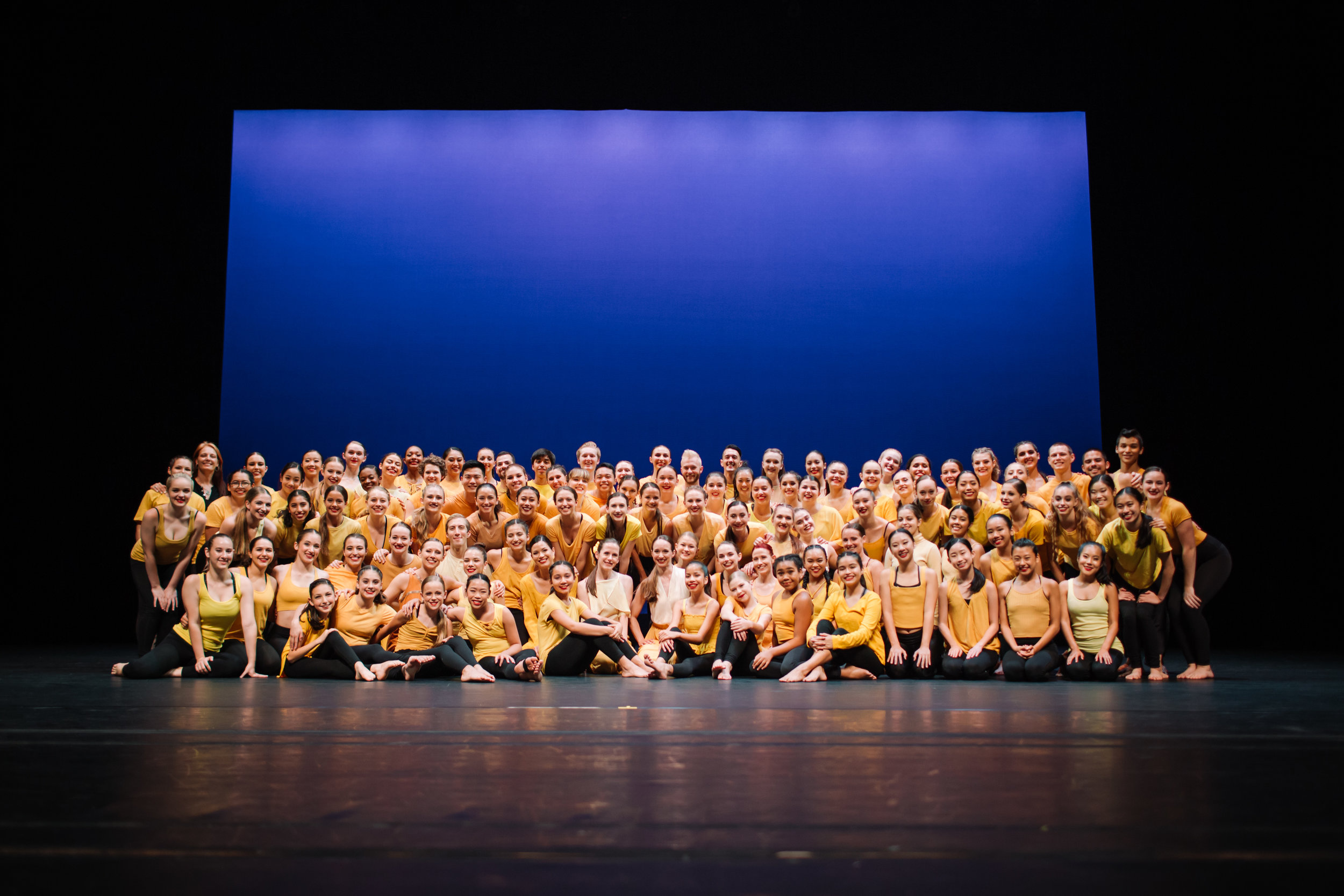 2019 Participants on stage before the performance. Photo © Emily Duncan