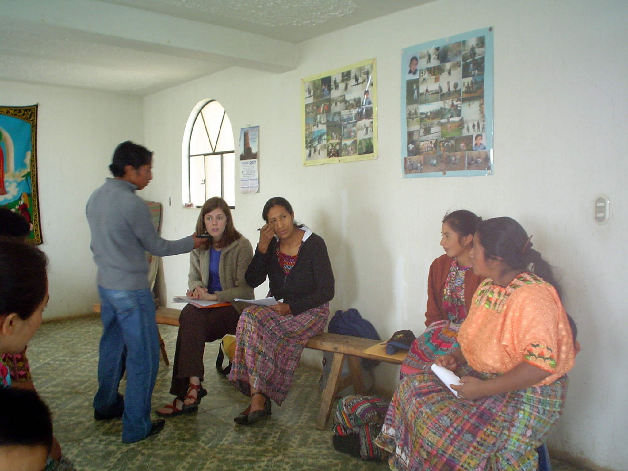 With support from a local team (to the right and left of me) who helped gain trust, acceptance, and translate from Spanish to K'iche' and back as needed, we conducted several focus group interviews with some extremely courageous women. Conversations recorded for accuracy and transcriptions.