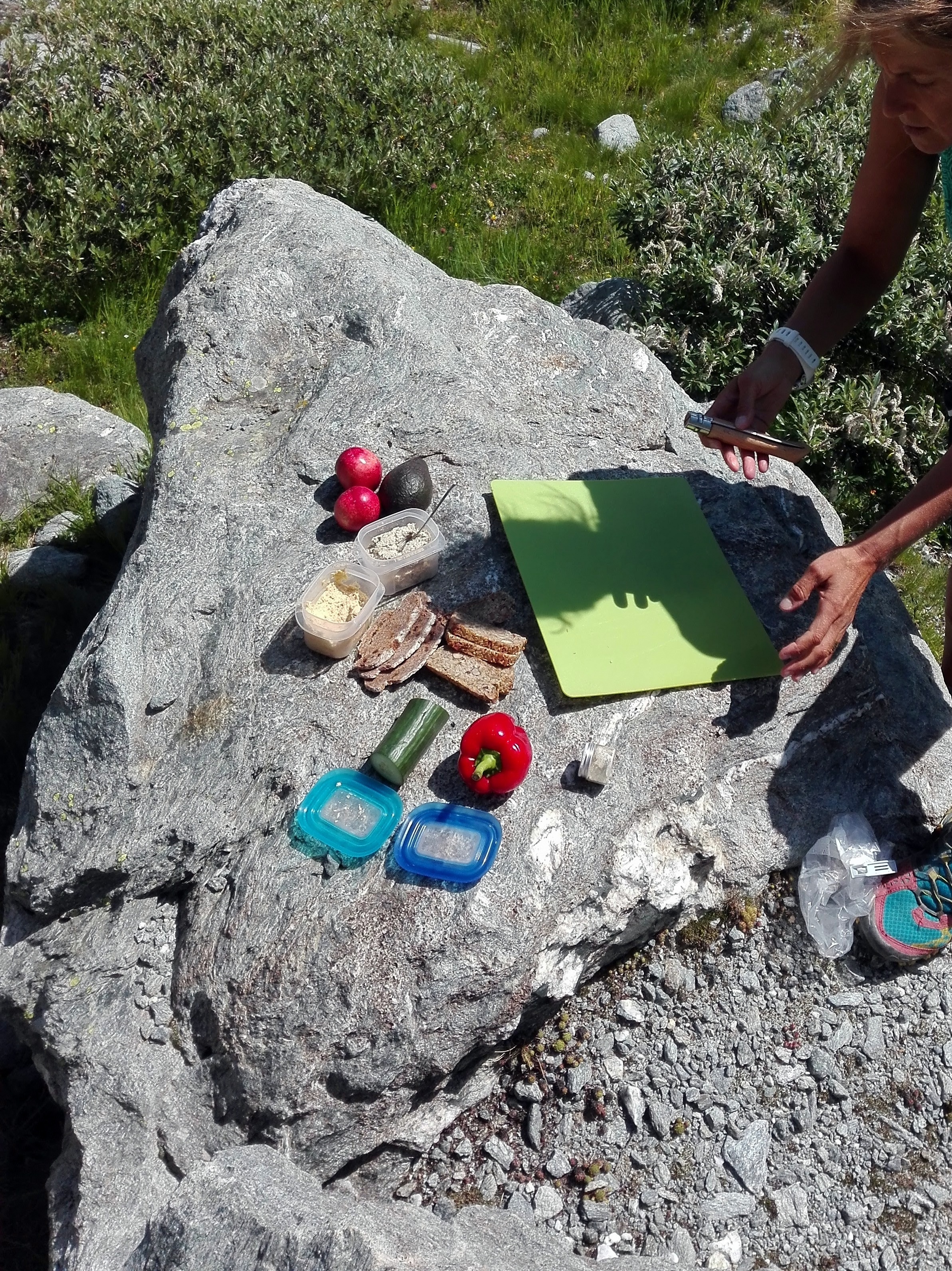 Picnic in the Swiss Alps
