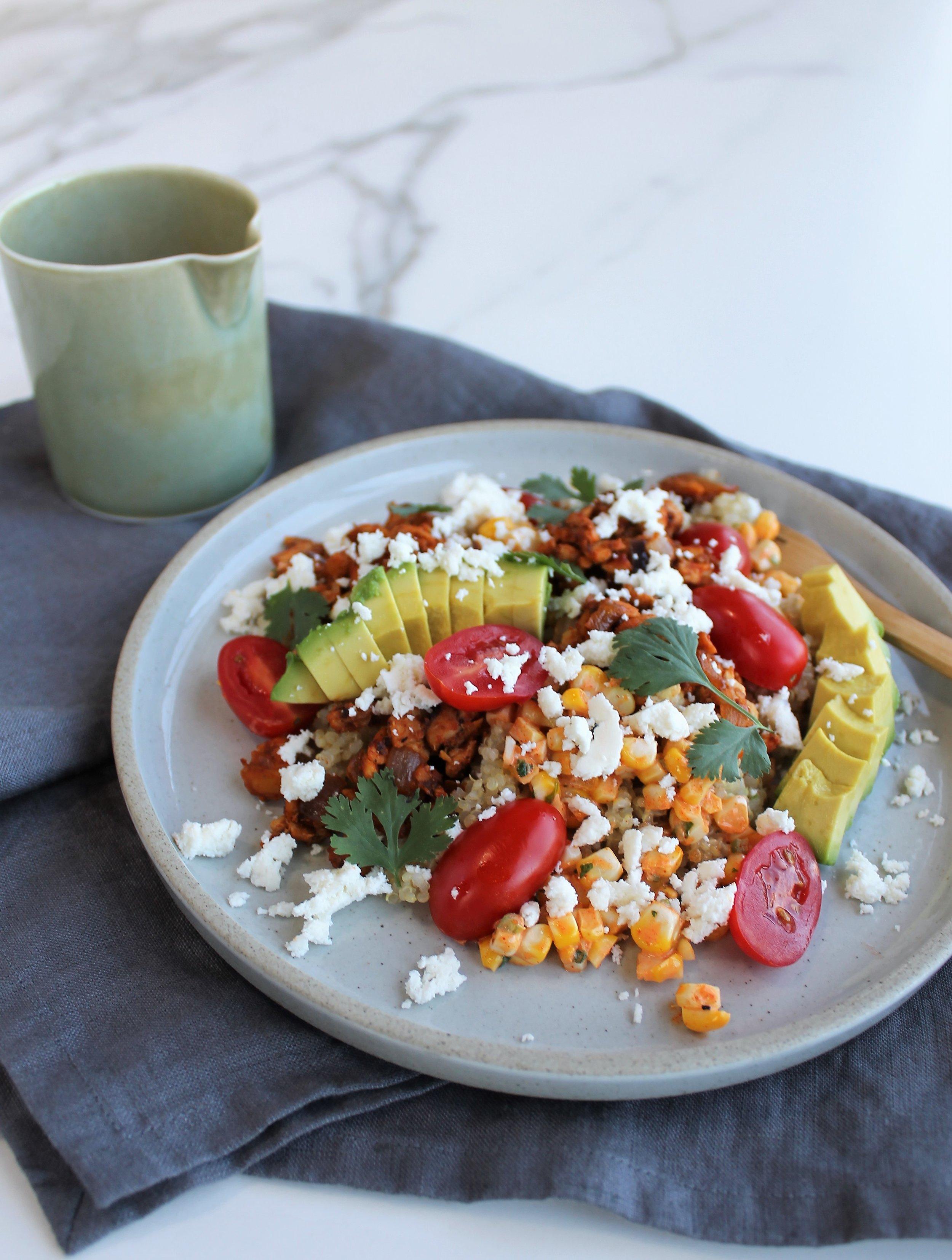 Elote Quinoa Bowls