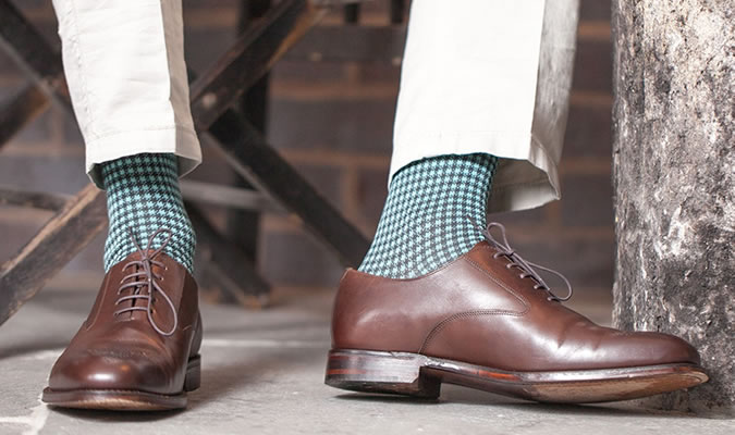 white socks with dress shoes