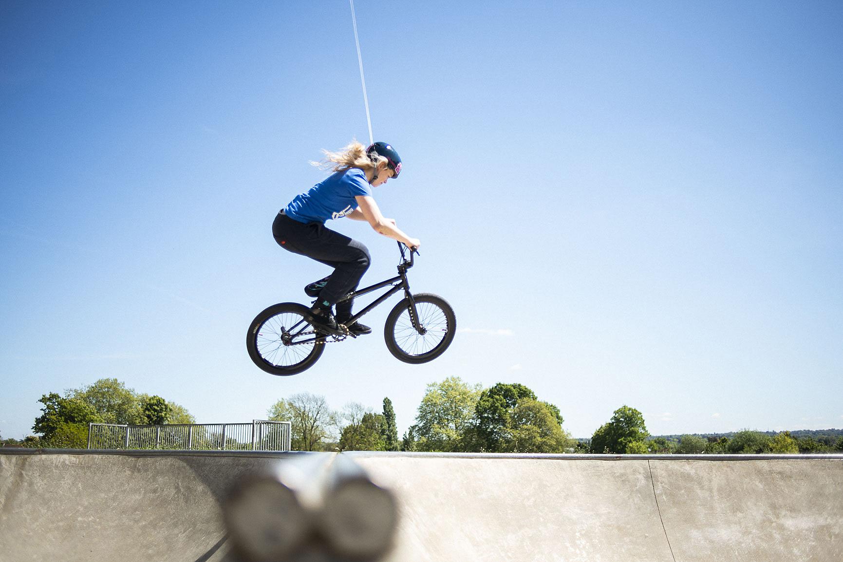 BMX Rider Val Ward