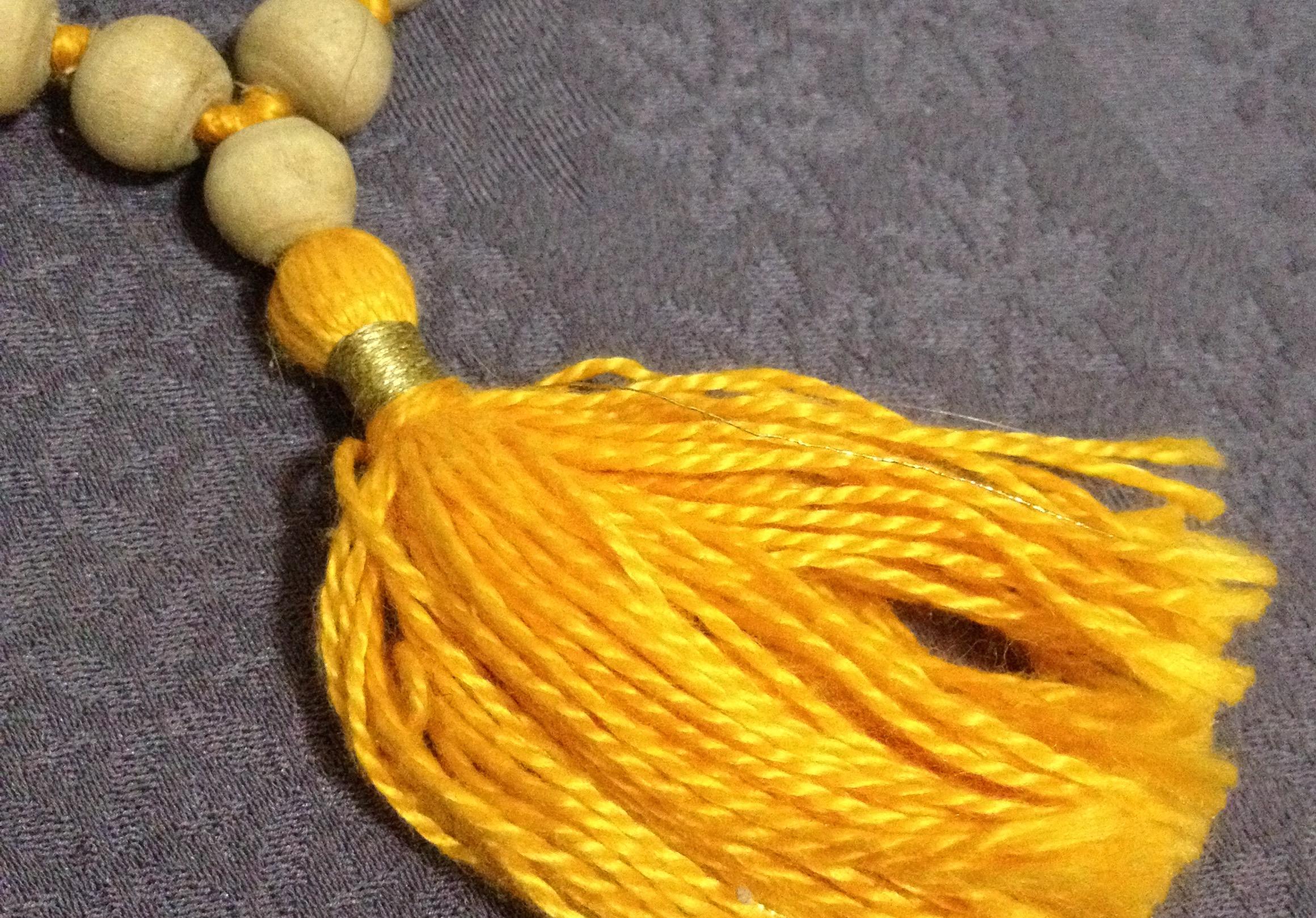 tulsi mala beads & satin cord