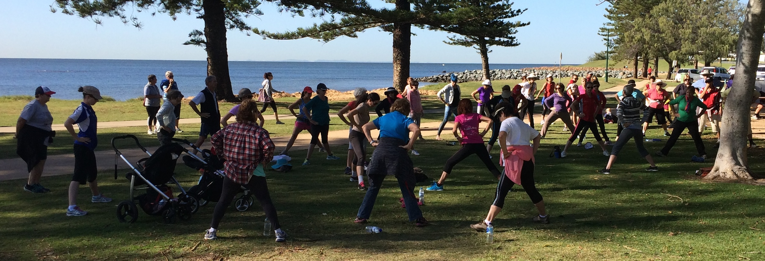 Stretching out those walking muscles after the Scarborough Walking by the Bay in May event