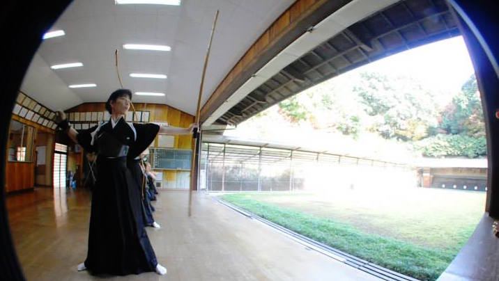 Japanese archery. A traditional mindfulness activity. Like yoga, the focus is on the process, not the outcome.