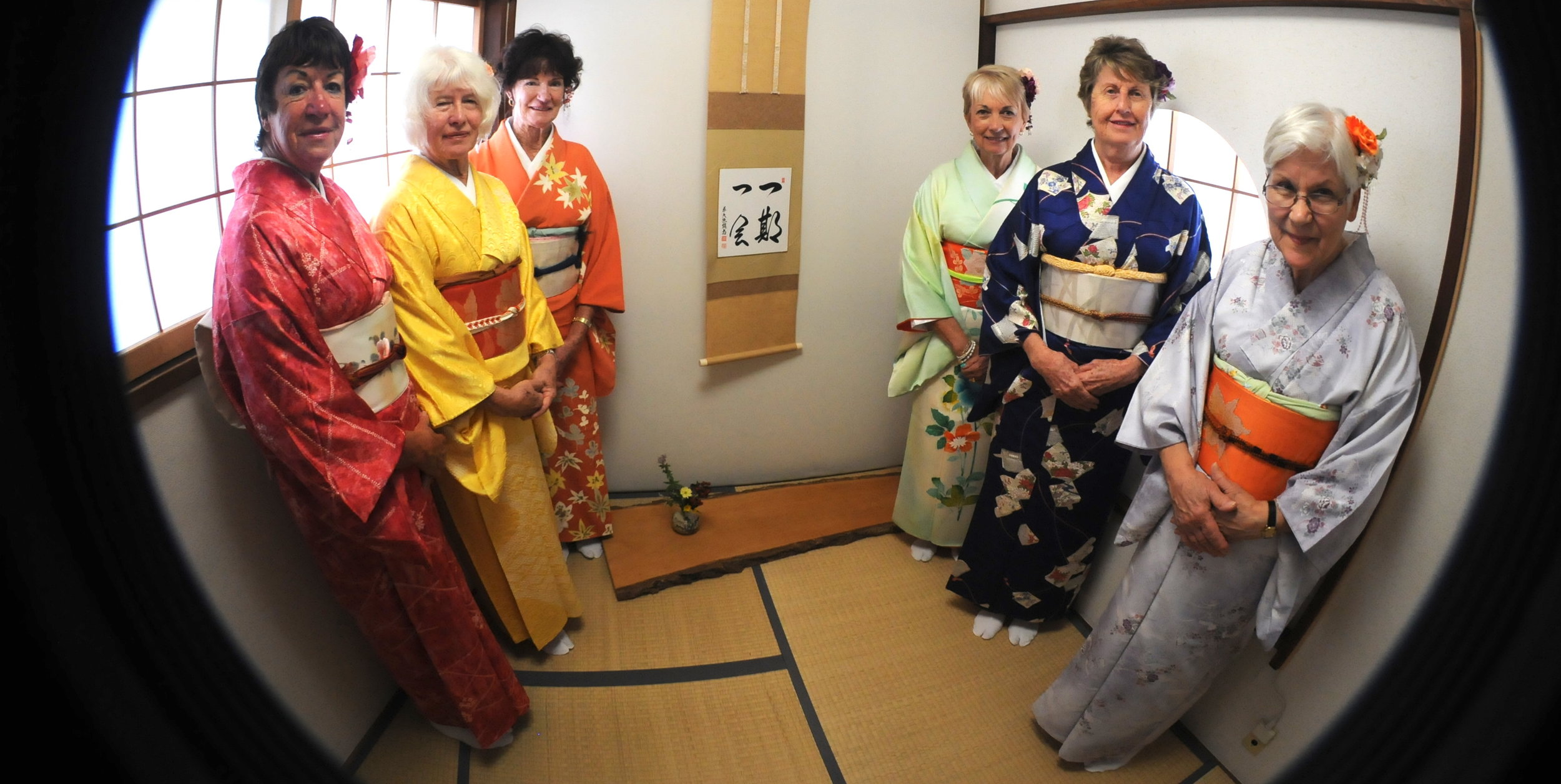 Dressed and ready for the tea ceremony