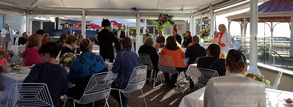 The panel discussion on holistic pain management. At Suttons Beach Pavillion