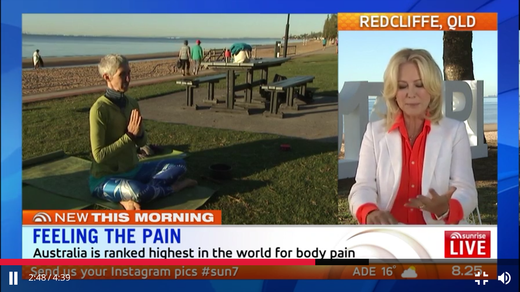 Click on the image above to see the segment on Sunrise that morning