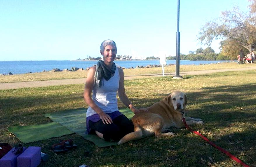 The lovely Milo at Sunset Yoga 2014