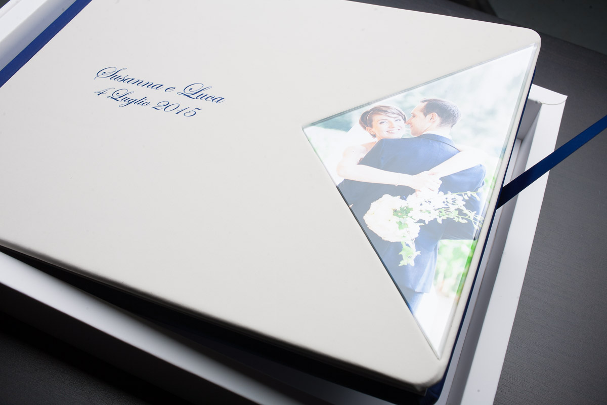 Album copertina ecopelle e plexiglass