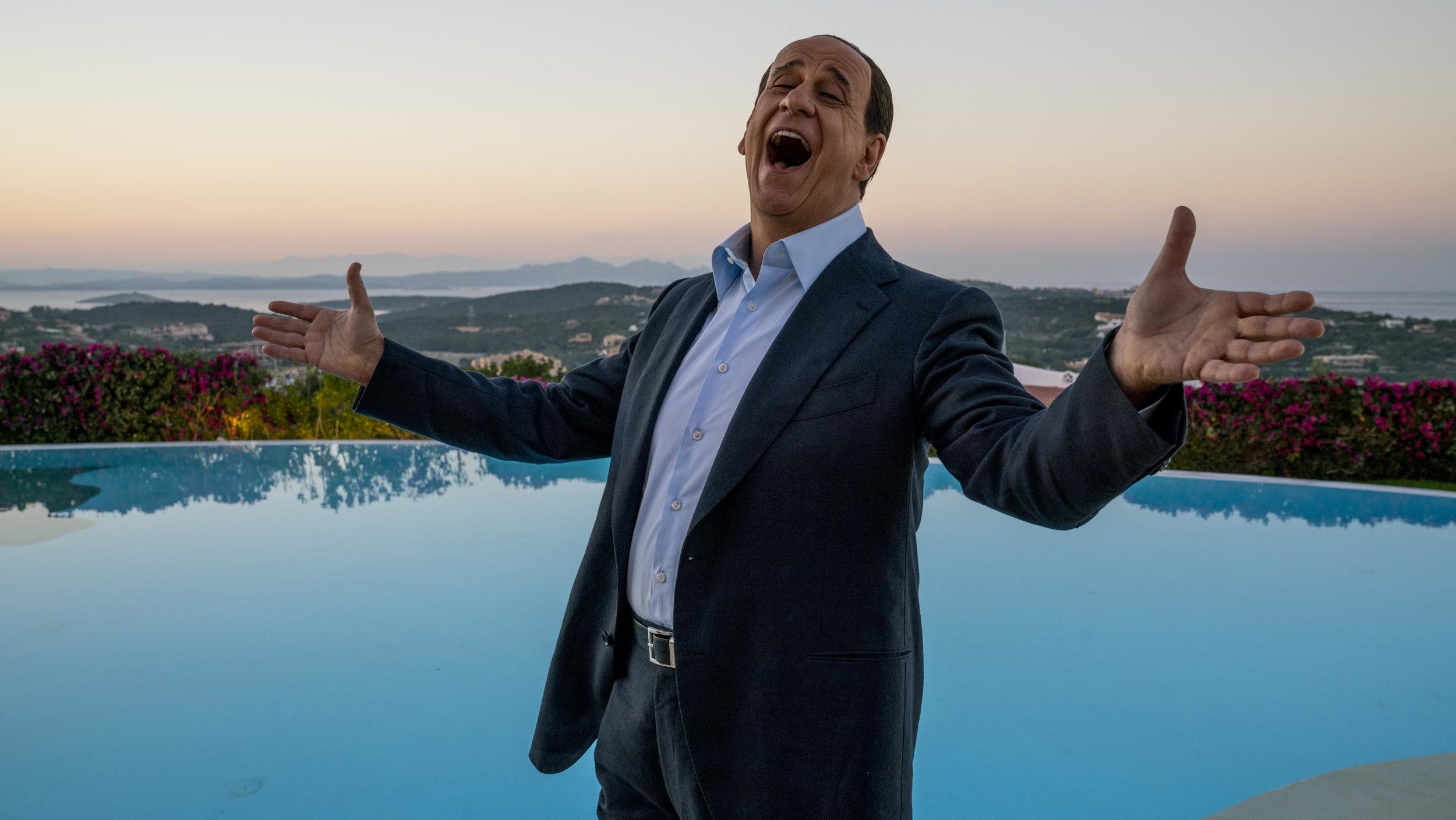 Toni Servillo as Silvio Berlusconi in  Loro .