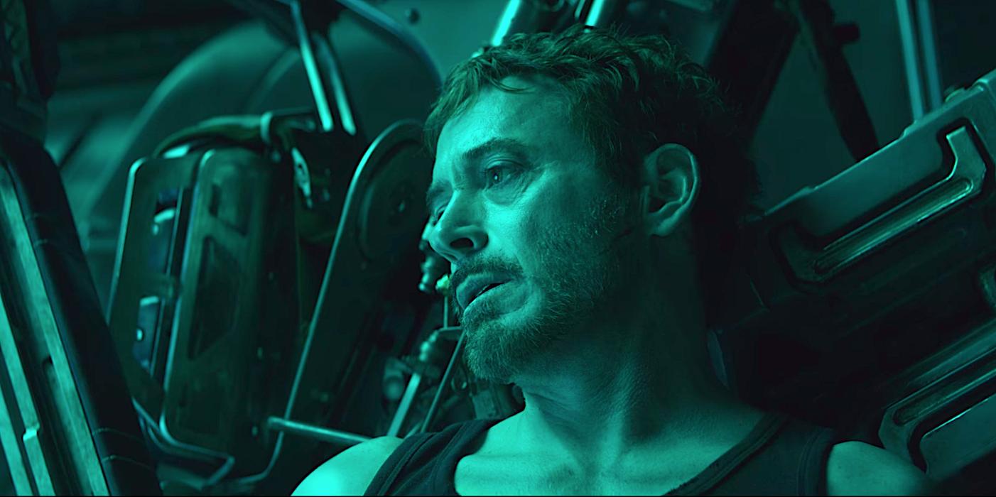 Robert Downey Jr. as the billionaire, playboy, philanthropist, and superhero Tony Stark in  Avengers: Endgame.