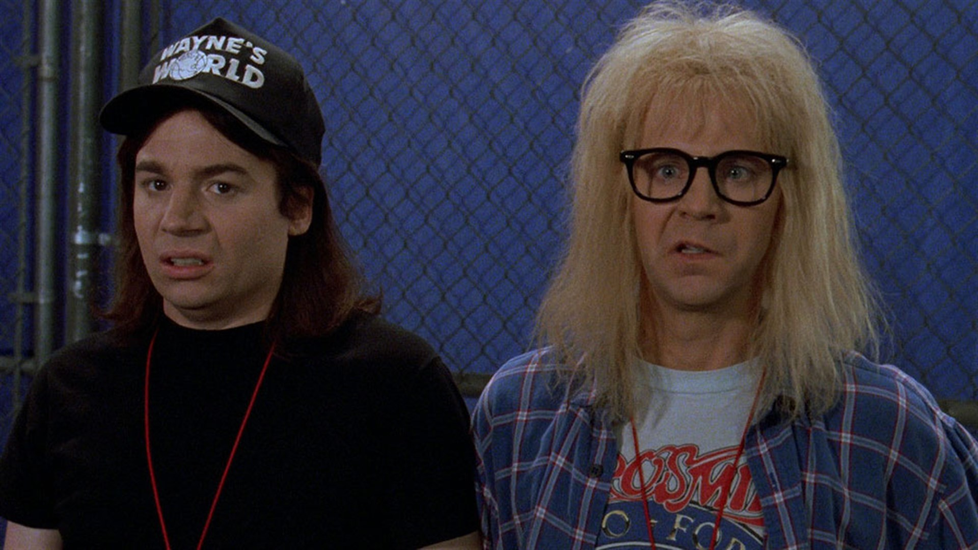 Michael Myers and Dana Carvey in  Wayne's World .