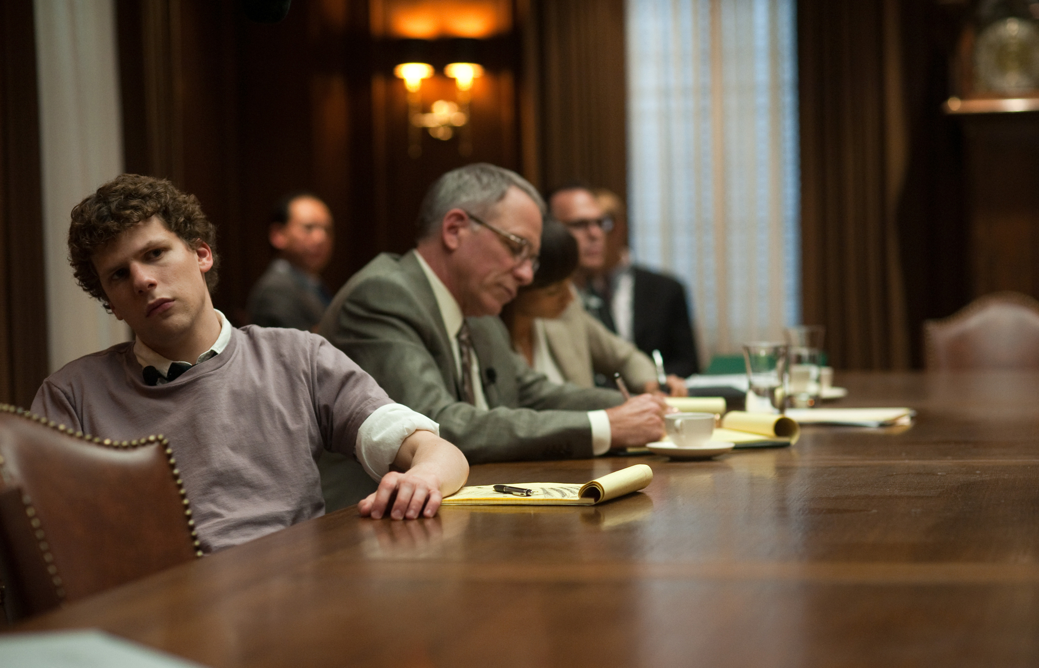 Jesse Eisenberg as Facebook founder Mark Zuckerberg in  The Social Network .