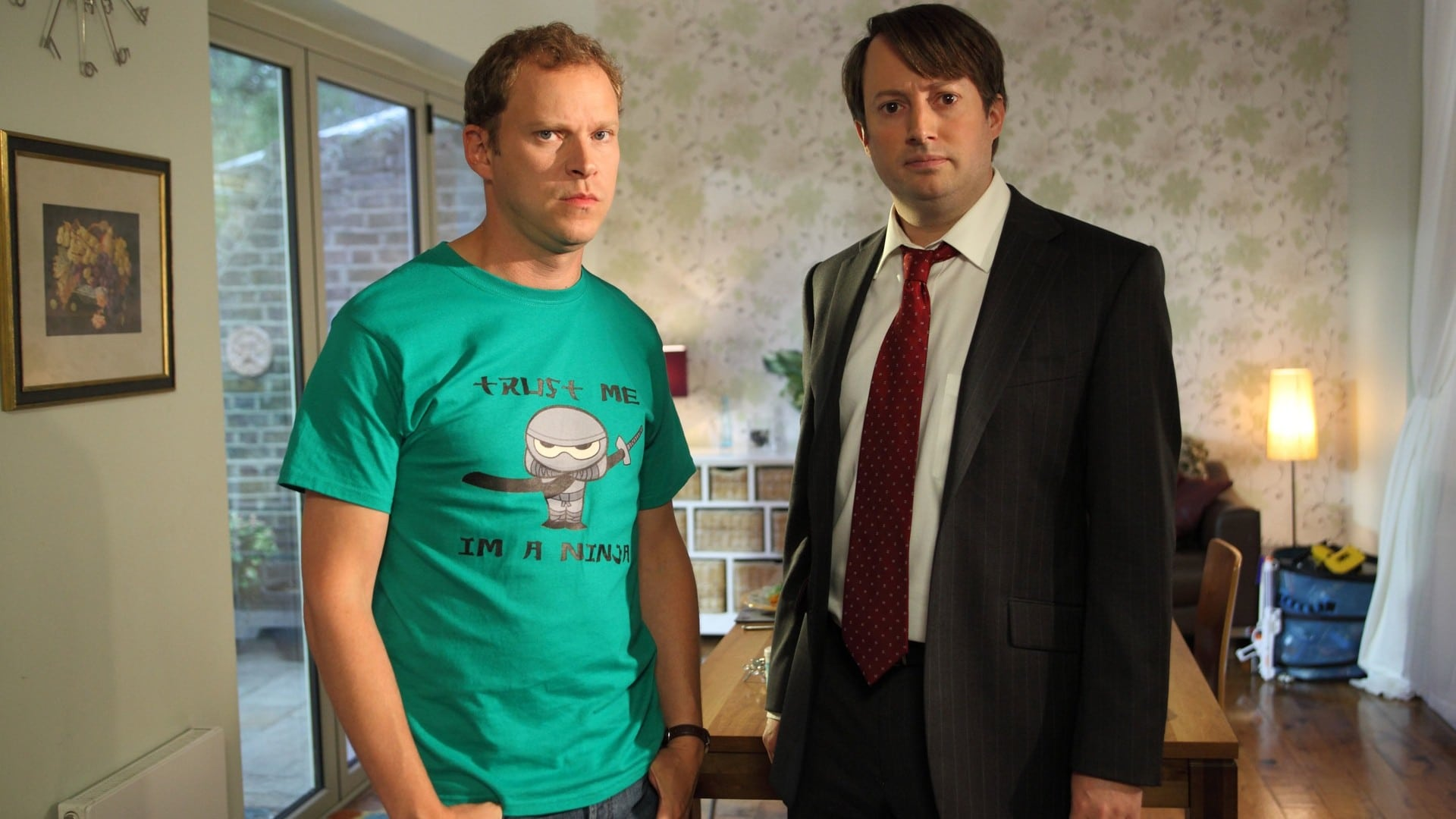 Robert Webb and David Mitchell as the confused Jeremy and Mark in  Peep Show .