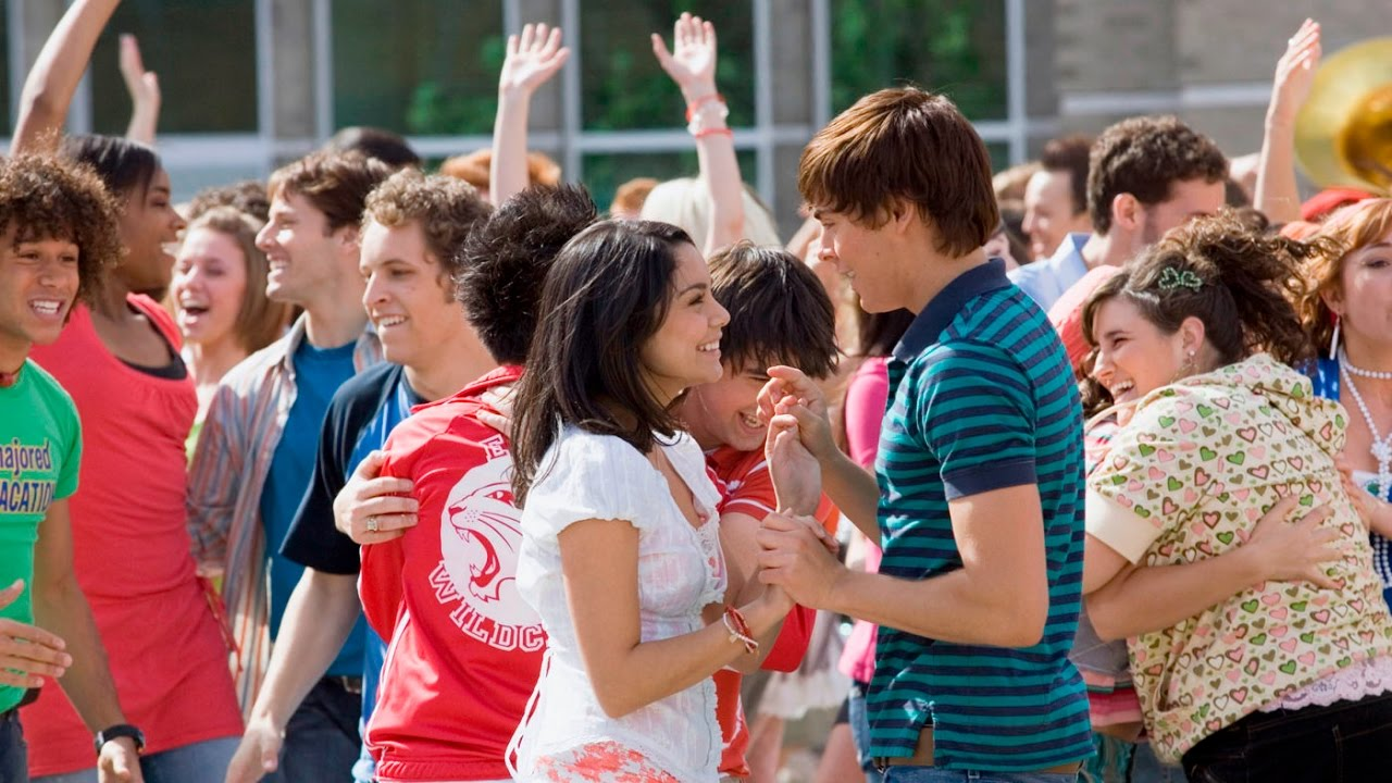 Vanessa Hudgens and Zac Efron play loved-up couple Gabriella and Troy in  High School Musical 2 .