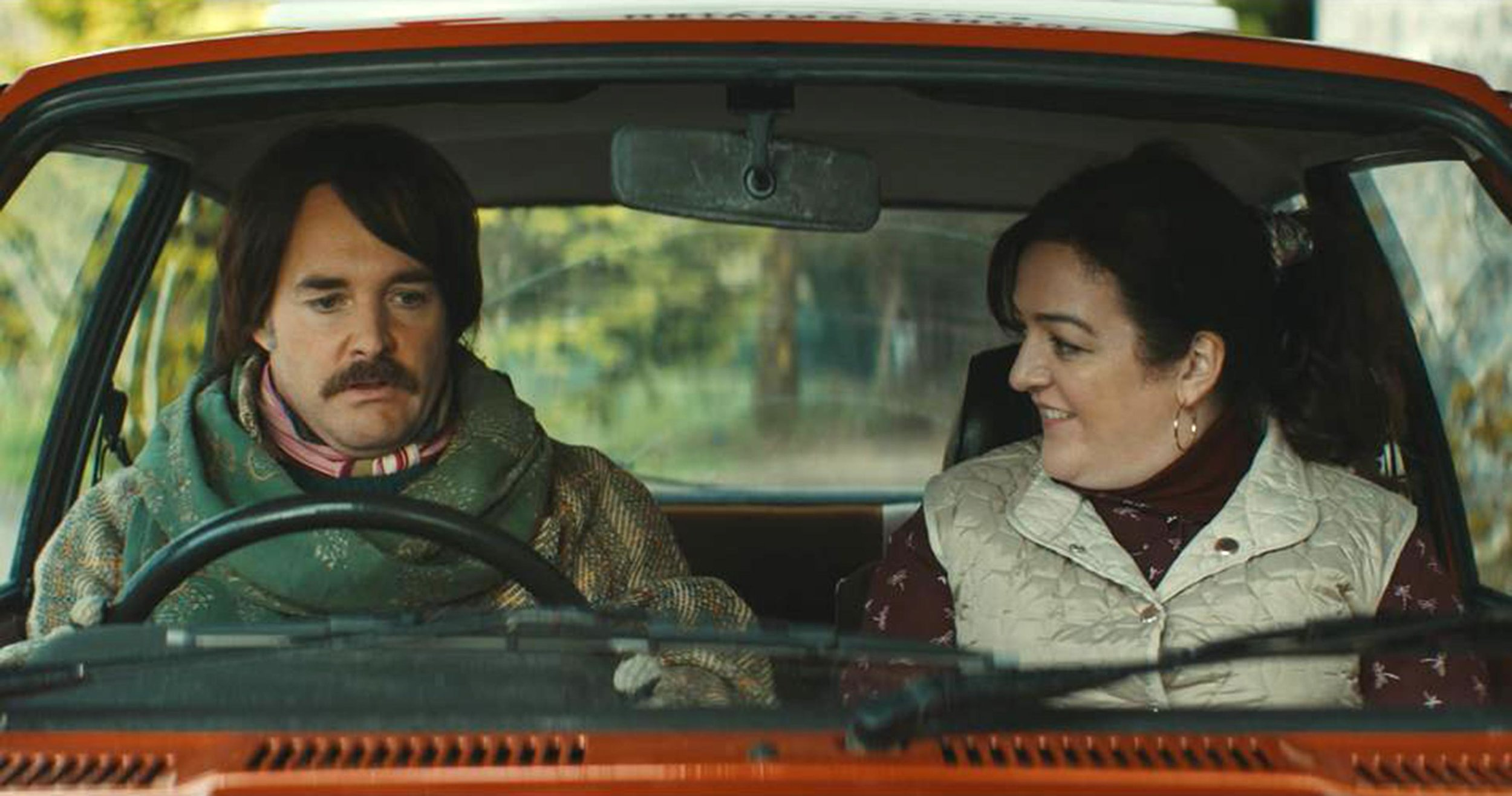 Barry Ward and Maeve Higgins as Martin and Rose in  Extra Ordinary .