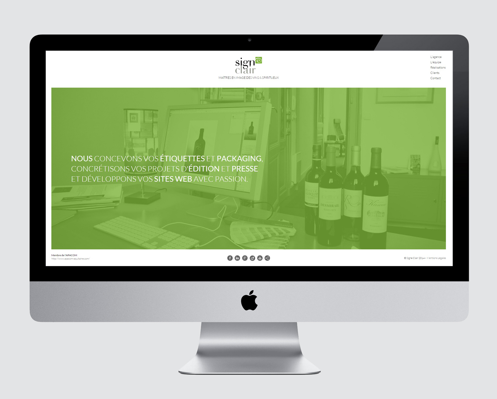 SIGNE CLAIR AGENCY - WEBSITE