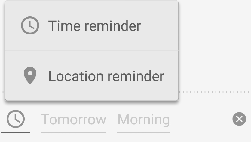 You can put in placeTime as well as Location reminders.