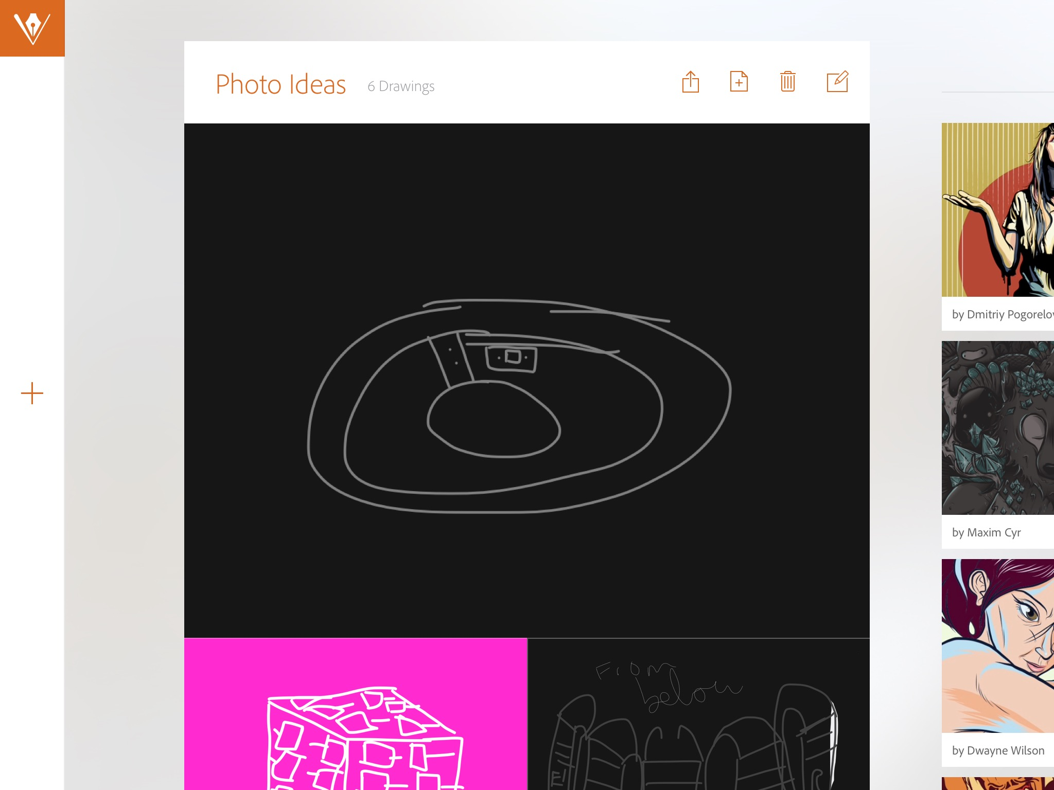 The app's homescreen