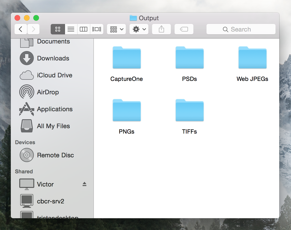 Each file type has it's own directory. The files will, of course, sport the same file name across the different types.