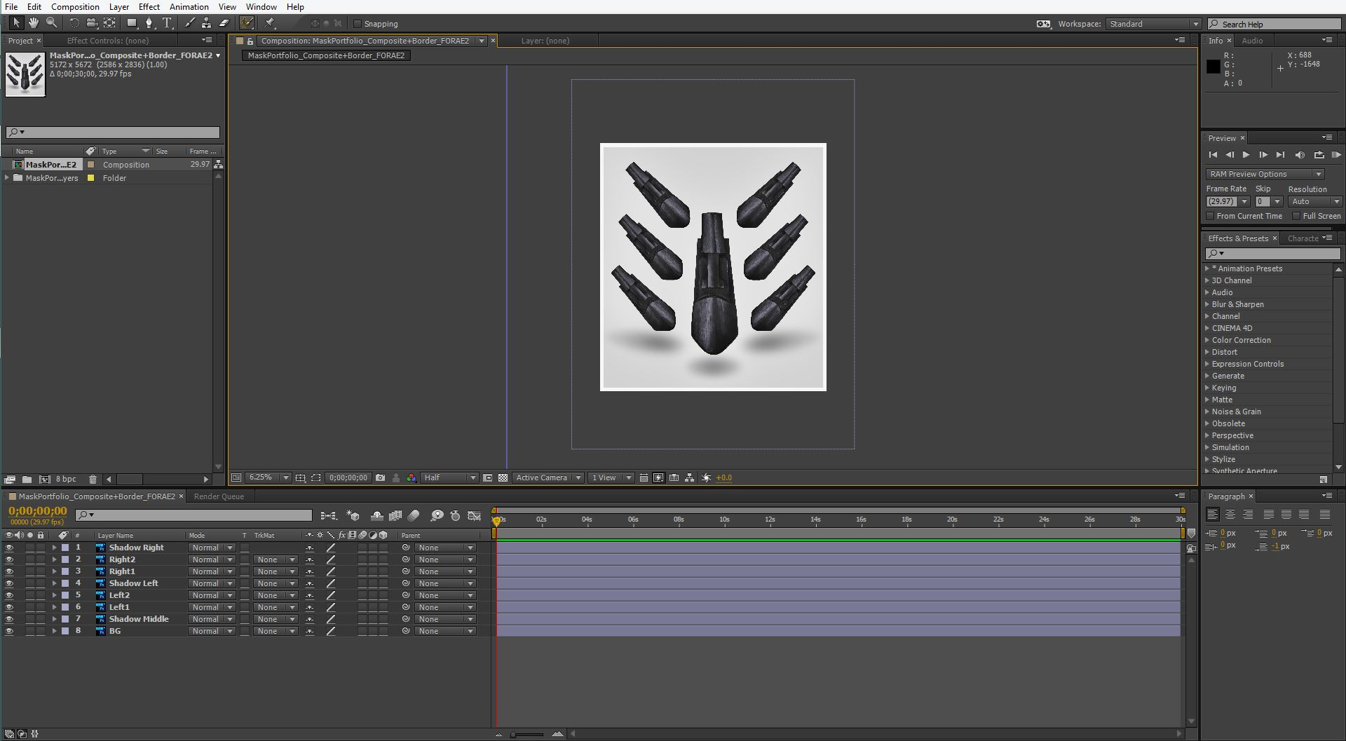 What it looks like in After Effects