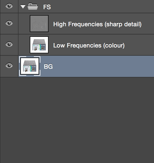 """Be sure that the layer you want the technique to be applied to is named """"BG"""" and that it is selected."""