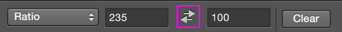 The double-arrow button is one you need to press to change the orientation