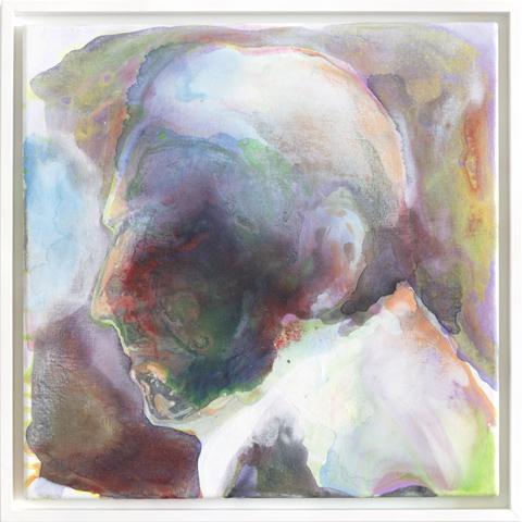 Sautest Profil  |Tusche und Acryl auf Leinwand | 40 x 40 cm