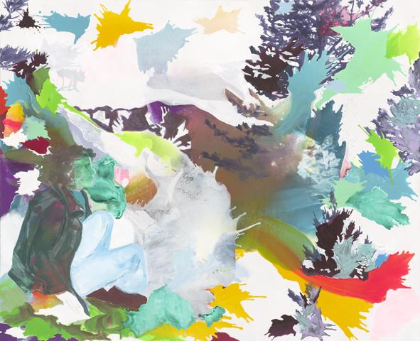 Das berüchtigte Abstrakteren  |Tusche, Acryl und Öl auf Leinwand | 180 x 220 cm