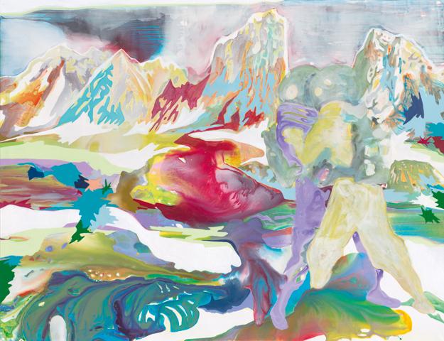 Kampf der Systeme  |Tusche, Acryl und Öl auf Leinwand | 200 x 260 cm
