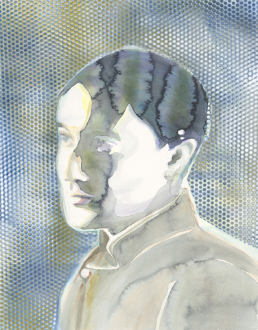 Kontrapunkte |Aquarell und Acryl auf Büttenpapier | 61 x 46 cm