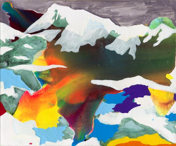 Ötztaler Wildspitze  | Tusche, Acryl und Öl auf Leinwand | 50 x 60 cm