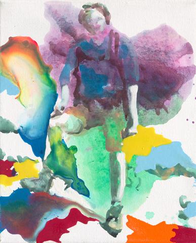 Strike a pose | Tusche, Acryl und Öl auf Leinwand | 30 x 24 cm