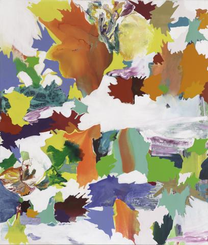 In der oberen Troposphäre    Tusche, Acryl und Öl auf Leinwand   140 x 120 cm