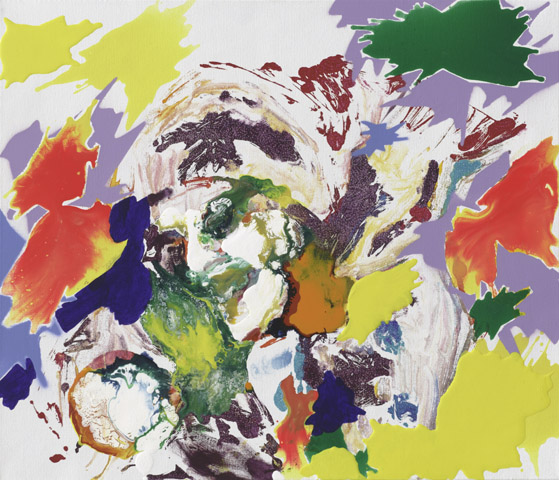 Martha    Tusche, Acryl, Druck und Öl auf Leinwand   60 x 70 cm