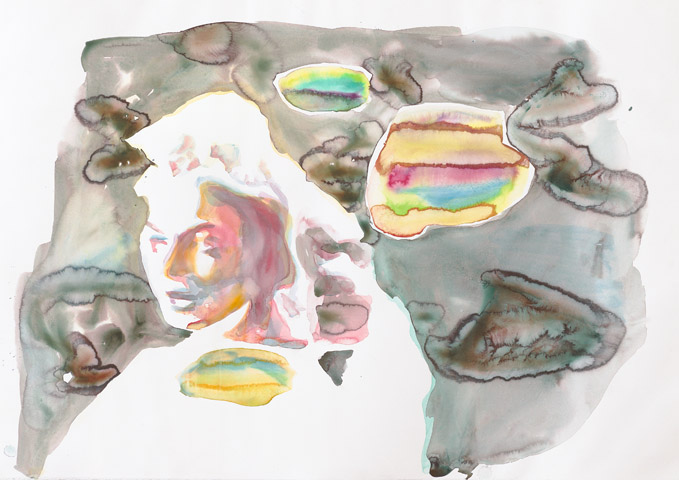 Das süße Leben #2    Aquarell auf Papier   70 x 100 cm