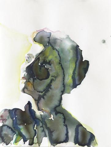 Einreisebedingungen    Aquarell auf Papier   61 x 46 cm