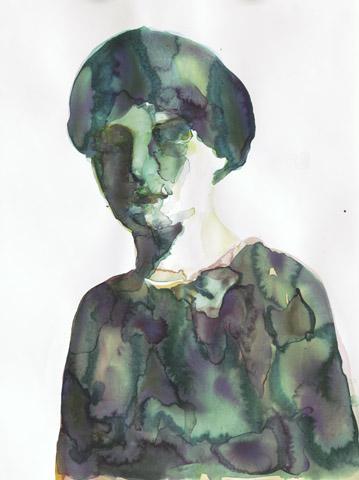 Blaubeer-Roulade    Aquarell auf Papier   61 x 46 cm
