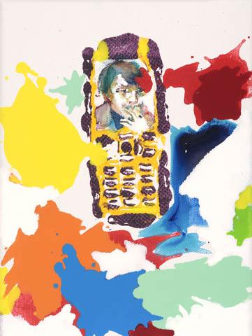 Ein Dampfer macht Staat  | Aquarell, Acryl, Druck und Öl auf Leinwand | 24 x 18 cm