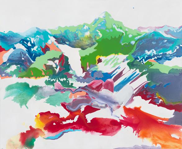 Hochvogel  |Acryl, Tusche und Öl auf Leinwand | 180 x 220 cm