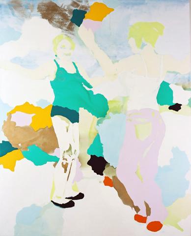 o.T.  | Tusche, Acryl u. Öl auf Leinwand | 320 x 185 cm