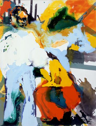 Sehstück II  | Tusche, Acryl u. Öl auf Leinwand | 200 x 150 cm