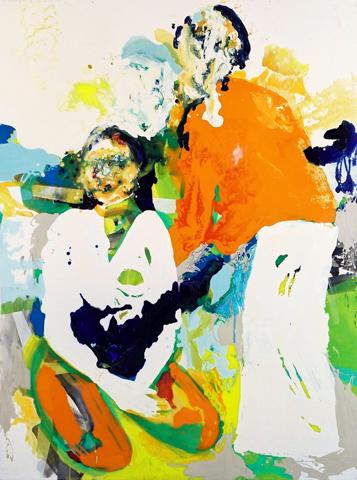 Odyssee im Weltraum  | Tusche, Acryl u. Öl auf Leinwand | 189,5 x 149,5 cm
