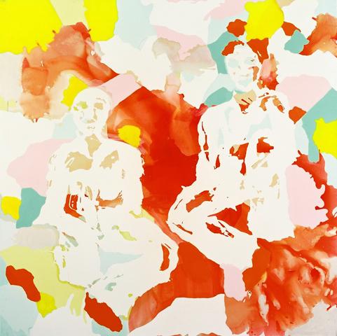 o. T. 2  | Tusche, Acryl u. Öl auf Leinwand | 200 x 200 cm