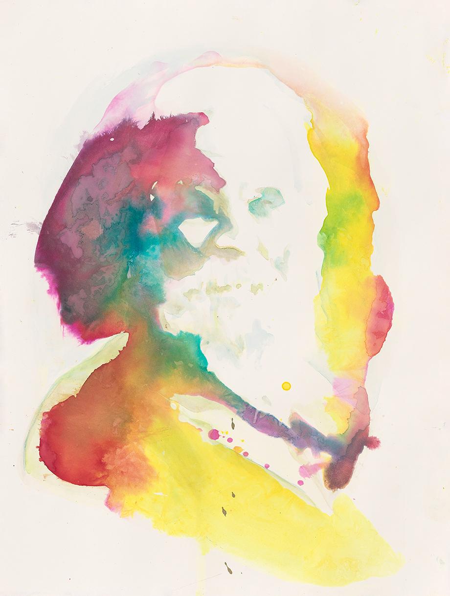 Walt Whitman  | Aquarell auf Büttenpapier | 61 x 46 cm